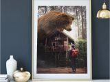 Grizzly Bear Wall Murals Big Bear forest Bear Print Bear Print Animal