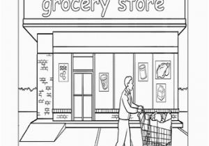 Grocery Shopping Coloring Pages Paint the town Grocery Store Educational Ideas