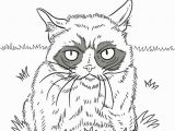 Grumpy Cat Coloring Pages Grumpy Cat Drawing at Getdrawings