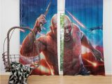 Guardians Of the Galaxy Wall Mural Guardians Of the Galaxy Vol 2 Movie Drax the Destroyer Window Curtain