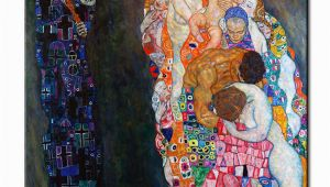 Gustav Klimt Wall Murals original Wall Picture Gustav Klimt Death and Life Wall