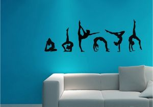 Gymnastics Wall Murals Easma Gymnastics Wall Decals Silhouettes Sport Art Girl Vinyl Decals