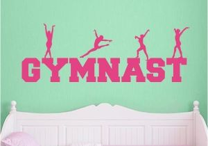 Gymnastics Wall Murals Gymnast Word Art Wall Decal Sports Wall Decals