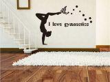 Gymnastics Wall Murals I Love Gymnastics Wall Stickers Dancing Girl Decorative Wallpapers