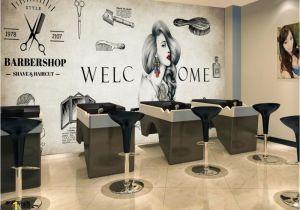 Hair Salon Wall Murals Beibehang Custom Wallpaper Living Room Bedroom Background 3d