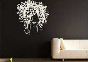 Hair Salon Wall Murals Flower Girl Hair Wall Sticker Decal Mural Daisies Wall Art Beauty