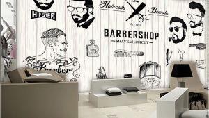 Hair Salon Wall Murals Free Shipping 3d Beauty Barber Mural Salon Barber Shop Fashion