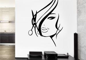Hair Salon Wall Murals Wall Decal Hair Salon Barbershop Hair Cuttery Unique Gift Z3201