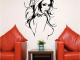 Hair Salon Wall Murals Y Naked Women Salon Hair Beauty Wall Art Stickers Decal Home