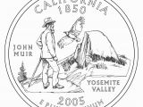 Half Dollar Coloring Page John Muir Yosemite California State Quarter Coin John Muir Exhibit