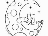 Half Moon Coloring Page Dulemba Coloring Page Tuesday Moon Mouse
