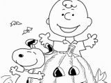 Halloweeen Coloring Pages Charlie Brown Halloween Coloring Page