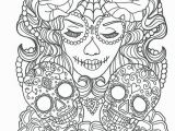Halloween Adult Coloring Page Cool Sugar Skull Coloring Pages Ideas