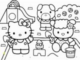 Halloween Coloring Pages Hello Kitty Hello Kitty at the Playground Coloring Page Dengan Gambar