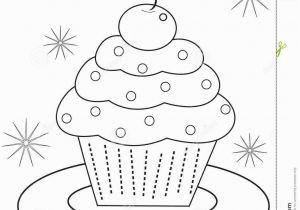 Halloween Cupcake Coloring Pages Cupcake Coloring Page Stock Illustration Illustration Of