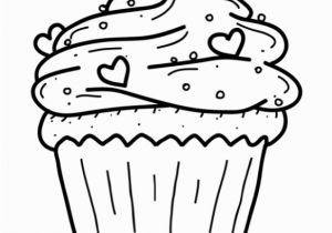 """Halloween Cupcake Coloring Pages Icolor """"cupcakes"""" Cupcake with Sprinkles & Tiny Hearts 564"""