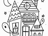 Halloween Haunted House Coloring Pages Free Halloween Coloring Page
