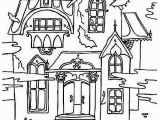 Halloween Haunted House Coloring Pages Free Printable Haunted House Coloring Pages for Kids