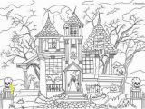 Halloween Haunted House Coloring Pages Horror Scenes – Haunted House