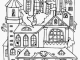 Halloween Haunted House Coloring Pages House Haunted Houses with Many Ghost Coloring Page