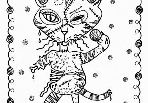 Halloween Horror Coloring Pages 5 Pages Fantasy Cats Instant S Scarry Halloween