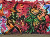 Halloween Wall Mural Ideas Beste Halloween Graffiti Bilder