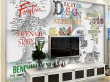 Halloween Wall Mural Ideas Custom Size 3d Wallpaper Living Room Mural English Alphabet Backdrop Wall Picture Mural Home Decor Creative Hotel Study Wall Paper 3 D Good