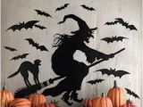 Halloween Wall Mural Ideas Witch Silhouette Halloween Decorations and Costumes You