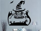 Halloween Wall Murals Decals Black Ghost Hands Bat Wall Stickers Halloween Store Window Glass