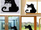 Halloween Wall Murals Decals Hot Popular Vinyl Removable 3d Wall Stickers Halloween Black Cat