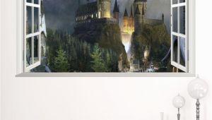 Halloween Wall Murals Decals New 3d Windows Ghost Castle Halloween Wall Sticker Pvc Festival Wall