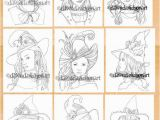 Halloween Witch Coloring Pages for Kids Wee Witches Halloween Multipack Minibook Coloring Pages Printable Colouring for Adults Instant Download Grayscale Coloring