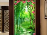 Hallway Wall Murals Custom Wall Mural Wallpaper for Walls 3d Flower Vine Bamboo forest