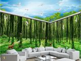 Halo Wall Mural Beibehang Silk Cloth Wallpaper Fantasy forest All Kinds Of Animals