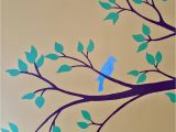 Hand Drawn Wall Murals Bird Nursery Mural Hand Drawn and Painted by Wallflower