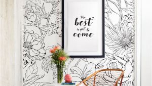 Hand Drawn Wall Murals Botanical Garden Hand Drawn Flowers Mural Wall Art Wallpaper