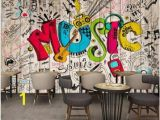 Hand Drawn Wall Murals Buy Music Wood Wall Decor and Get Free Shipping Best