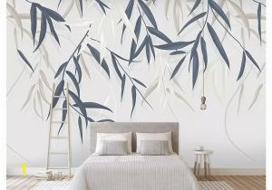 Hand Painted Bedroom Wall Murals 3d Wall Murals Wallpaper Custom Picture Mural Wall Paper Minimalistic Hand Drawn Vintage Leaf Plant Flower Tv Background Wall Home Decor Wallpaper Hd