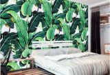 Hand Painted Bedroom Wall Murals Custom Wall Mural Wallpaper European Style Retro Hand Painted Rain forest Plant Banana Leaf Pastoral Wall Painting Wallpaper 3d Free Wallpaper Hd