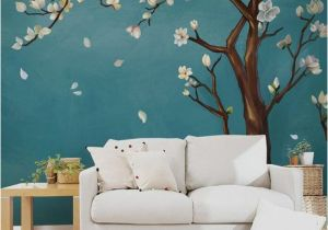 Hand Painted Bedroom Wall Murals Hand Painted E Magnolia Tree Flowers Tree