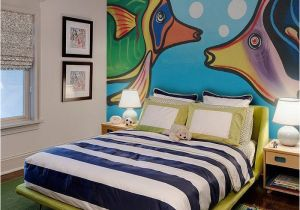 Hand Painted Bedroom Wall Murals Hand Painted Fish Wall Mural