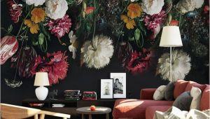 Hand Painted Floral Wall Murals 3d Wall Murals Wallpaper Retro Hand Painted Floral Wall
