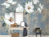Hand Painted Floral Wall Murals Custom 3d Mural Wallpaper European Style Diamond Jewelry Golden Flower Backdrop Decor Mural Modern Art Wall Painting Living Room Wallpaperss
