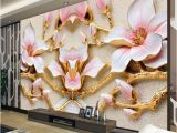 Hand Painted Floral Wall Murals Custom Wall Mural Wallpaper for Walls Roll 3d Relief Flower Tv Background Wall Papers Home Decor Living Room Modern Art Painting Excellent Wallpapers