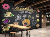 Hand Painted Murals Pricing Custom Restaurant Wallpaper Hand Painted Coffee Breakfast Bread 3d
