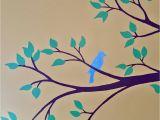 Hand Painted Nursery Wall Murals Bird Nursery Mural Hand Drawn and Painted by Wallflower