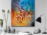 Hand Painted Wall Murals Artist 2019 Hand Painted Customized Calligraphy Artist Abstract Arab Calligraphy Hand Painted Oil Painting Canvas Art Painting for Hotel From