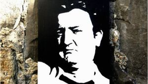 Hand Painted Wall Murals Ireland Hand Painted Acrylic Piece Of Art Of Brendan Behan by