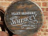 Hand Painted Wall Murals Ireland Peaky Blinders Whiskey Lid Wood Hand Painted Wall Art Pub