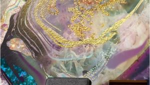 Hand Painted Wall Murals Pricing Uk Gold Dust Purple Stunning Gold Dust Purple Wall Mural From Wallsauce